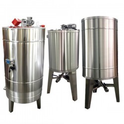 Stainless tank 1000L - cover - integrated stand