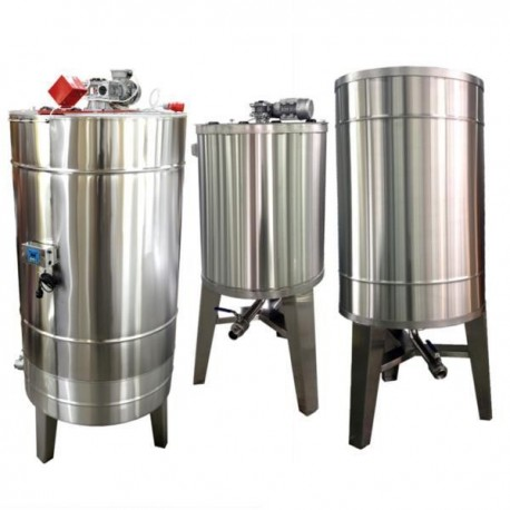 Stainless steel tank 500 L, with heating and stand