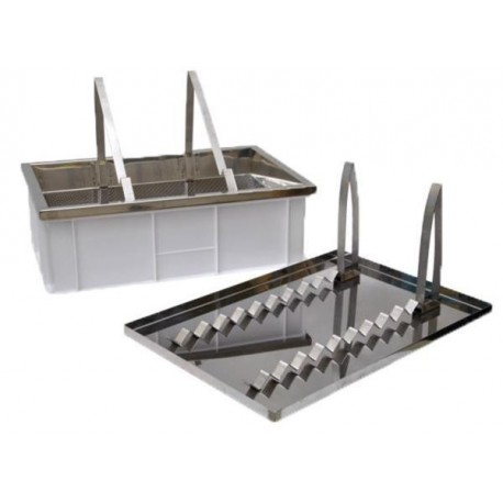 Uncapping table with stainless strainer, dual-function