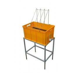 Uncapping table with plastic tray and stainless strainer (H - 300mm)