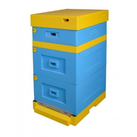 Langstroth Beehive with low bottom board, painted